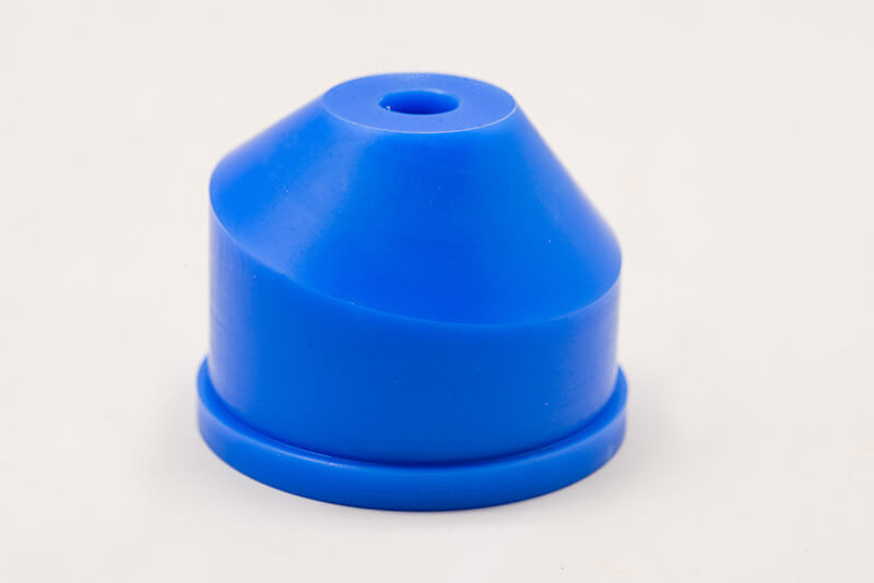Manufactured by using 5-Axis CNC Milling Machine, material Nylon Blue